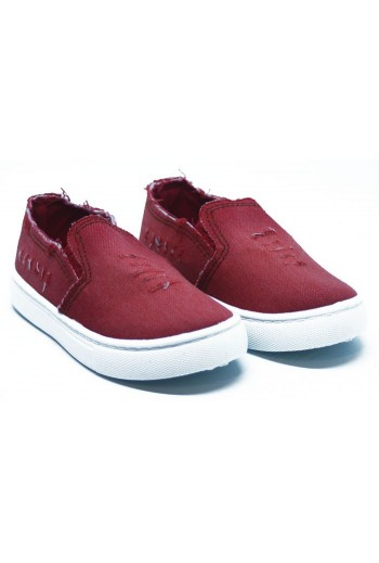 Slip on jeans rouge