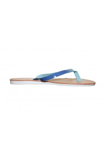 tongs sangle bleu