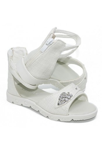 Sandales fille blanche