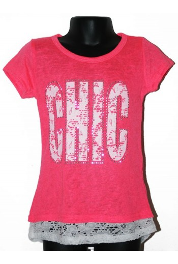"Tshirt rose ""chic"""