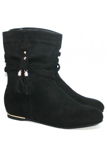 Bottines bout vernis